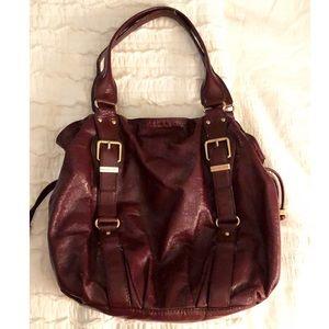Michael Kors burgundy leather handbag